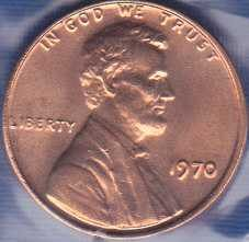 1970 P Lincoln Cent