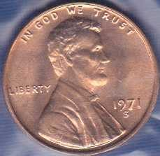 1971 S Lincoln Memorial Cent