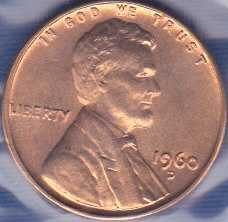 1960 D Lincoln Memorial Cent SD