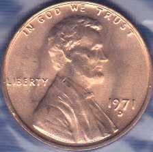 1971 D Lincoln Memorial Cent