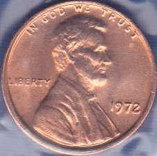 1972 P Lincoln Memorial Cent