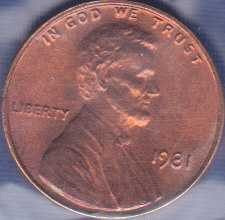 1981 P Lincoln Memorial Cent