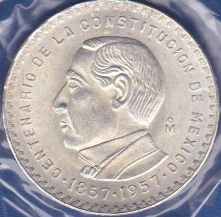 Mexico 5 Pesos 1957