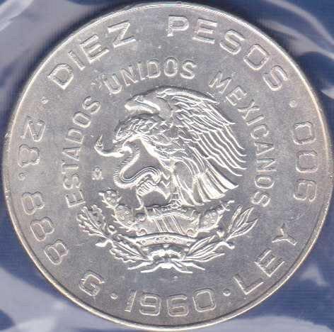 Mexico 10 Pesos 1960