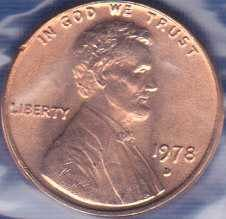 1978 D Lincoln Memorial Cent