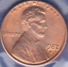 1982 D Lincoln Memorial Cent