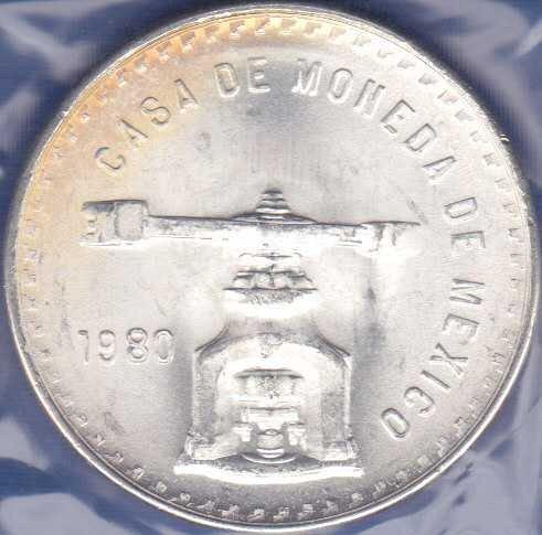 Mexico Onza 1980, Medallic Silver Bullion Coinage