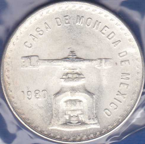 Mexico Onza 1980, Medallic Silver Bullion Coinage