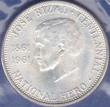 Mexico 1/2 Peso 1961