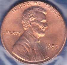 1985 P Lincoln Memorial Cent