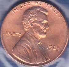 1985 P Lincoln Memorial Cent