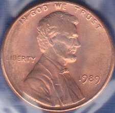 1989 P Lincoln Memorial Cent
