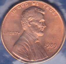 1989 D Lincoln Memorial Cent