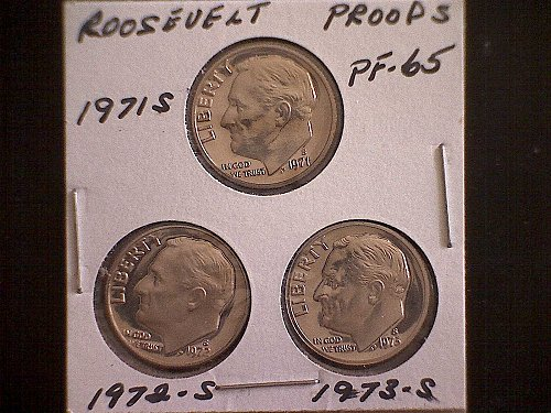 1971-S  1972-S  1973-S  ROOSEVELT DIMES