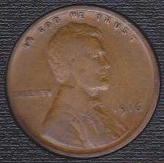 1916 P Lincoln Wheat Cent Small Cent
