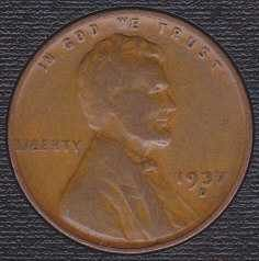 1937 D Lincoln Wheat Cent Small Cent