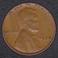 1938 P Lincoln Wheat Cent Small Cent