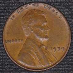 1939 P Lincoln Wheat Cent Small Cent