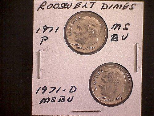 1971-P & 1971-D ROSEVELT DIMES