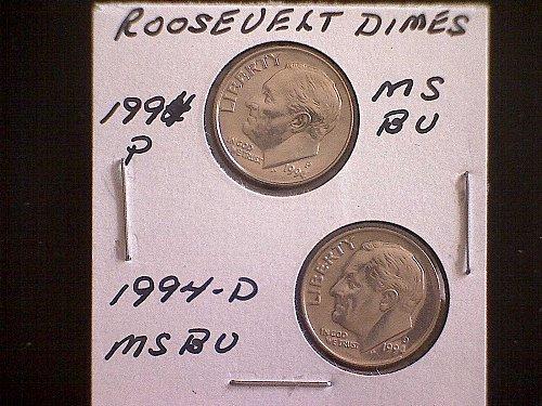 1994-P & 1994-D  ROOSEVELT DIMES