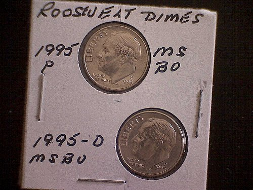 1995-P & 1995-D  ROOSEVELT DIMES