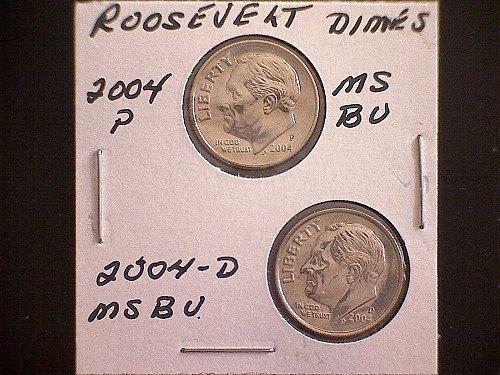 2004-P & 2004-D  ROOSEVELT DIMES