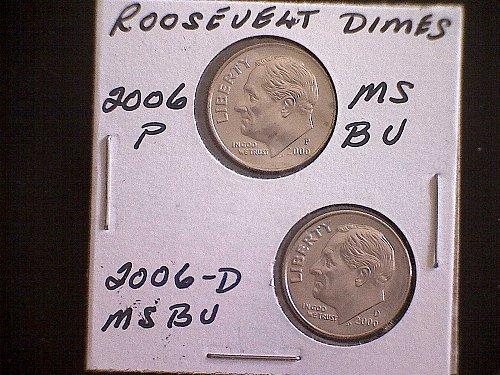 2006-P & 2006D  ROOSEVELT DIMES