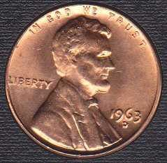1963 D Lincoln Memorial Cent