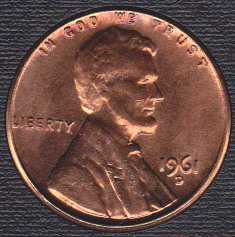 1961 D Lincoln Memorial Cent