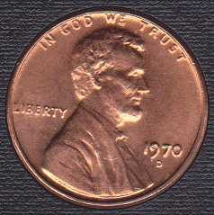 1970 D Lincoln Memorial Cent