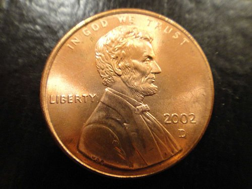 2002-D Lincoln Cent MS-65 (GEM) RED
