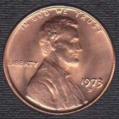 1973 D Lincoln Memorial Cent