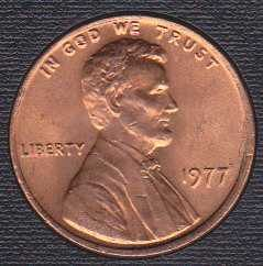1977 P Lincoln Memorial Cent