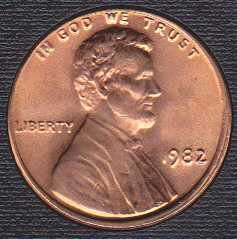 1982 P Lincoln Memorial Cent