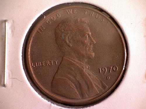 1970-D LINCOLN MEMORIAL PENNY