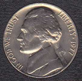 1977 P Jefferson Nickel