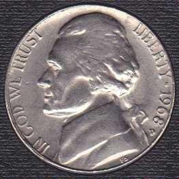 1968 D Jefferson Nickel