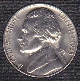 1973 P Jefferson Nickel