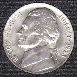 Jefferson Nickel 1943P (silver)