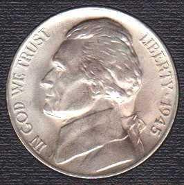 Jefferson Nickel 1945P (silver)
