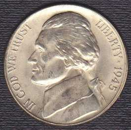 Jefferson Nickel 1945D (silver)