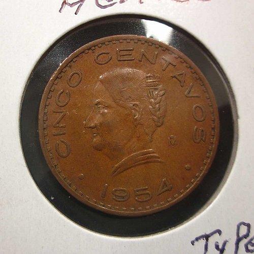Mexico 5 centavos 1954