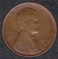 1910 P Lincoln Wheat Cent