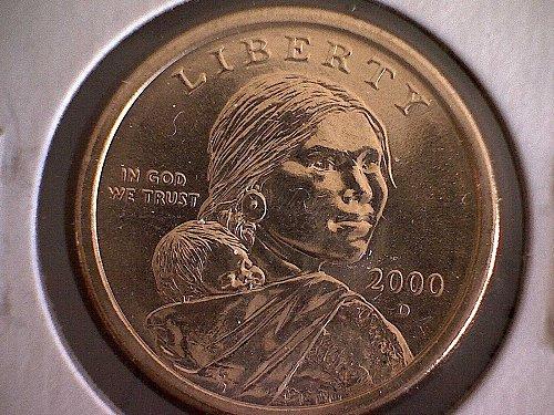 2000- D SACAGAWEA DOLLAR