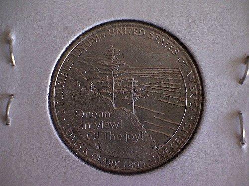 """2005-P JEFFERSON NICKEL: WESTWARD JOURNEY """"OCEAN IN VIEW"""""""