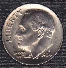1984 P Roosevelt Dime