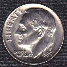 1985 P Roosevelt Dimes