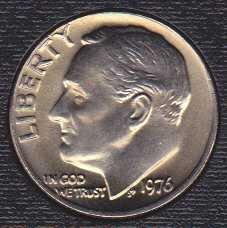 1976 P Roosevelt Dime