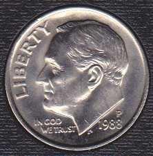 1988 P Roosevelt Dime