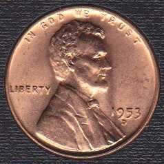 1953 D Lincoln Wheat Cent